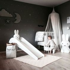 Black in Kid's rooms - nursery, play and childrens rooms