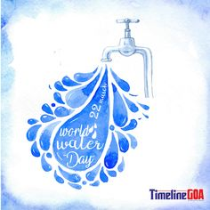 Today on World Water Day, Let us pledge to save every single drop of the water and save this precious resource. Save Water In Hindi, Save Water Quotes, Watercolor Water, Watercolor Background, Save Water Poster Drawing, World Water Day, Dark Art Drawings, Water Art, Water Conservation