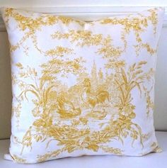 Designer pillow cover Toile pattern Waverly   Country by WilmaLong