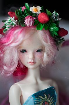 BJD - strawberry and clover