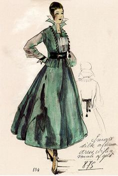 Silk Afternoon Dress by House of Worth 1916  Designer: Jean-Philippe Worth