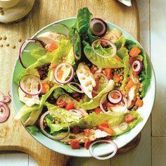 Varieer tijdens de #PowerStart! Salade met gegrilde kip. #WeightWatchrs #WWrecept