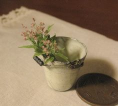 Flowers in bucket