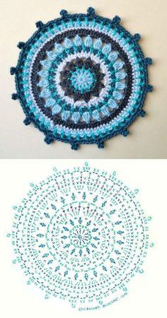 Transcendent Crochet a Solid Granny Square Ideas. Inconceivable Crochet a Solid Granny Square Ideas. Motif Mandala Crochet, Crochet Motifs, Crochet Circles, Crochet Diagram, Crochet Squares, Crochet Chart, Crochet Doilies, Crochet Flowers, Mandala Rug