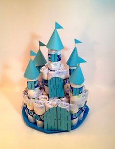Castillo pañales niño azul