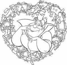 Complicated Coloring Sheets Alice In Wonderland Coloring