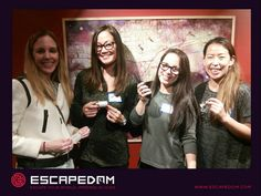 Well done in the Escape room ladies!