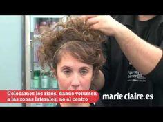 Cómo hacer un recogido romántico con pelo rizado - YouTube