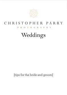 Tips for the Bride and Groom