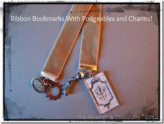Podgeables Ideas: Velvet Ribbon Bookmarks