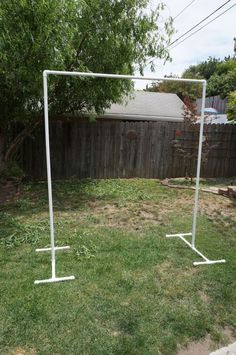 Build your own PVC backdrop. For the ceremony! Way better than renting one of those tacky arches!: