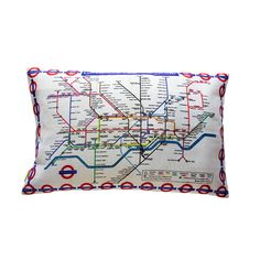 Love this idea of making a cushion using a underground map tea towel! !!