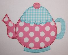 053 Teapot Machine Embroidery Applique Design by TheMerryRose, $4.00
