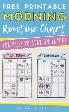 FREE Printable Morning Routine Checklist for Kids | Customize this chart to help your children be independent in their daily morning tasks and chores. Great template for kids of all ages - from toddlers to teens. Perfect as a back-to-school or homeschool routine. #printable #freeprintable Morning Routine Chart, Morning Routine Checklist, Kids And Parenting, Parenting Hacks, Routine Printable, Potty Training Tips, Charts For Kids, Parent Resources
