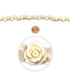 "LOVE THESE Introducing the newest Strands from Blue Moon Beads!  Let your creativity bloom with these carved acrylic rose beads. They are great for stringing but also have a flat back and can be used as cabochons and glued onto collaged projects Blue Moon Beads 7"" Strand, Acrylic Carved Rose, White/Cream http://www.joann.com//blue-moon-beads-7-strand-acrylic-carved-rose-white-cream/zprd_12178976a/"