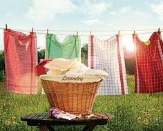 Is there anything nicer than linens dried outdoors?