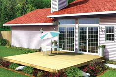 Low Platform Backyard Deck Designs