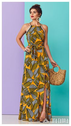 Image may contain: 1 person, standing African Print Dresses, African Dress, African Wear, Cute Summer Dresses, Simple Dresses, Casual Dresses, Kitenge, Queen Fashion, Maxi Robes
