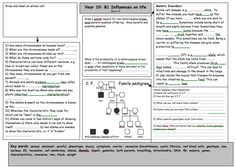 This is a 2 of 6 revision worksheets designed for use with EDEXCEL Core Science Unit (Higher Level) Enjoy! Teaching Materials, Teaching Resources, Teaching Ideas, Additional Science, Gcse Science Revision, Science Worksheets, Molecular Biology, Teaching Biology, Middle School Science