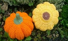Crochet Fruit, Crochet Hats, Crochet Decoration, Crochet Earrings, Felt, Crocheting, Autumn, Vegetables, Halloween