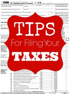 Here are some important Tax Filing Tips for Saving Money on your Taxes this year. I also have a list of Free Tax Filing Options available for Federal & State Taxes. Income tax tips, tax return tips Laura Lee, Ways To Save Money, Money Saving Tips, Money Tips, Free Tax Filing, Tax Help, Income Tax Return, Tax Preparation, Thing 1