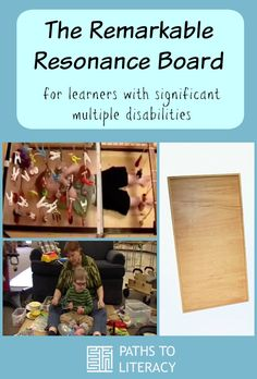 Learners with significant multiple disabilities can benefit from the remarkable Resonance Board, a perceptualizing aid designed by Dr. Lilli Nielsen for Active Learning. Sensory Activities, Learning Activities, Sensory Diet, Sensory Play, Teaching Ideas, Sensory Pathways, Multiple Disabilities, Learning Disabilities, Special Educational Needs