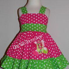 Custom Boutique Clothing Strawberry Short cake Sassy Girl Dress