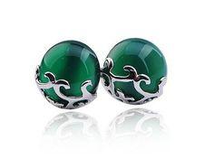 925 agate stud earrings