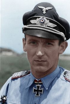 ✠ Herbert Lütje (30 January 1918 – 18 January 1967) RK 01.06.1943 Hauptmann Staffelkapitän 8./NJG 1