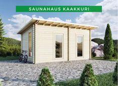 Sauna Ideen: Auf der einen Seite unseres Saunahauses Kaakkuri befindet sich der Saunaraum, bereit für einen Saunagang. Während auf der anderen Seite das zweite Zimmer als Gartenhaus, Yoga- oder Ruheraum genutzt werden kann. Schaffen Sie sich einen Ort der Entspannung und erholen Sie sich! Villa, Pergola, Outdoor Structures, Yoga, Sauna Ideas, Roof Pitch, Relaxing Room, The Last Song, Outdoor Pergola
