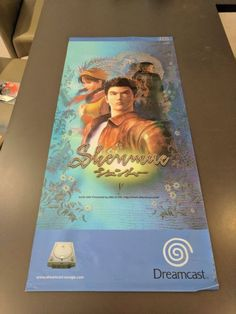 Original Shenmue Plastic / Vinyl Shop Display Poster  #retrogaming #HotDC  The poster measures approximately 42cm (W) x 91cm (H). It is generally good condition for it's age (it's been stored rolled up for years) but has a few corners where the ink has come off the plastic (see photos). The main parts of the image are all intact. Auction from Australia.