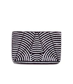 Image 1 of TWO-TONE BEADED AND EMBROIDERED WOMAN'S WALLET from Zara