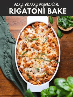 This rigatoni pasta bake with vegetarian sausage is comfort food at its best. Perfect for weeknight family dinners! #pastabake #comfortfood #vegetarianrecipes #dinner All You Need Is, Pasta Bake Sauce, Meat Recipes, Vegetarian Recipes, Pasta Recipes, Protein Pasta, Baked Rigatoni, Peach Kitchen, Veggie Sausage