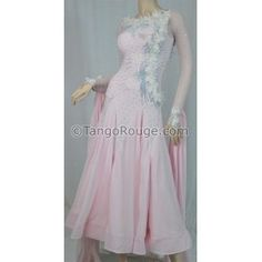 Share me and get 5% off coupon Blush Ballroom Viennese Waltz Foxtrot Dance Dress - S