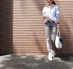 ZARAデニムと、2000円代白Tシャツ。 の画像|のりこオフィシャルブログ「Noricoco room 〜365日コーディネート日記〜」Powered by Ameba