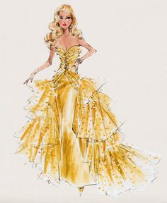 by Robert Best (Barbie Fashion Model Illustrations). Arte Fashion, Paper Fashion, Fashion Models, Fashion Fashion, Fashion Images, Dress Fashion, High Fashion, Beauty Illustration, Dress Illustration