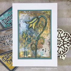 SewPaperPaint: MFT, Simon Says and PaperArtsy Cards Happy Birthday Boy, Sons Birthday, Student Of The Month, Mixed Media Techniques, Winter Flowers, Distress Oxides, Simon Says, Flower Images, Tim Holtz