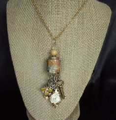 Vintage Charm Necklace by AngelsandRust on Etsy