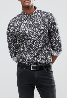 Paul Smith Shirt With All Over Holepunch Print In Tailored Slim Fit from ASOS (men, style, fashion, clothing, shopping, recommendations, stylish, menswear, male, streetstyle, inspo, outfit, fall, winter, spring, summer, personal)