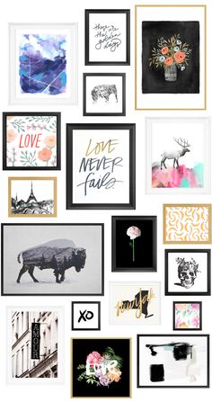 This is an awesome round up by of great prints to buy as gifts this holiday! // gallery wall inspiration, arrangements, styling, home decor for every part of the house, interior decorating Reproductions Murales, Picture Wall, Photo Wall, Decoration Hall, Decorations, Photowall Ideas, Deco Pastel, Contemporary Abstract Art, Inspiration Wall