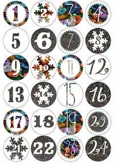 Glitter Advent Calendar: DIY and Printable inside Christmas Countdown, Christmas Calendar, Christmas Love, Winter Christmas, Christmas Crafts, Advent Calendar Activities, Advent Calenders, Diy Advent Calendar, Christmas Activities