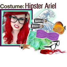 """Costume: Hipster Ariel (:"" by royal-tips on Polyvore"