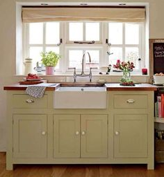 Browse photos of Freestanding Kitchen Cabinets Ideas. Find ideas and inspiration to add to your own home. See more ideas about Standing kitchen and Kitchen pantry cupboard. Kitchen Sink Units, Free Standing Kitchen Cabinets, Diy Kitchen Cabinets, Kitchen Tables, Space Kitchen, Home Decor Kitchen, Country Kitchen, Kitchen Furniture, New Kitchen