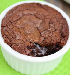 3 Ingredient Single Serving Nutella Brownie