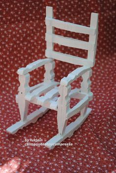 oh my goodness!  this rocking chair is made out of clothespins! i would love to create an ordinary chair with this technique. love it!
