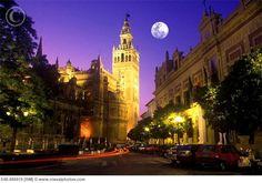 Seville at night.  #JetsetterCurator