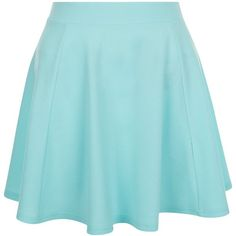 New Look Teens Mint Green High Waisted Skater Skirt ($12) ❤ liked on Polyvore featuring skirts, mint green, circle skirt, high-waist skirt, summer maxi skirts, mint maxi skirt and summer skirts