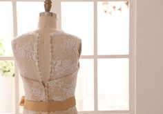 Vintage Inspired Ivory Lace Wedding Dress with by misdress on Etsy | Wedding Interest