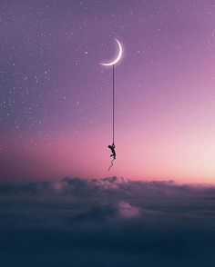 Moon moonlight dark loneliness always forever beautiful night purple sk Aesthetic Pastel Wallpaper, Cute Wallpaper Backgrounds, Galaxy Wallpaper, Aesthetic Wallpapers, Cute Wallpapers, Moon Photography, Creative Photography, Landscape Photography, Loneliness Photography