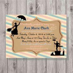 Digital Vintage Mary Poppins Baby Shower by spencervillejunction $10 digital file